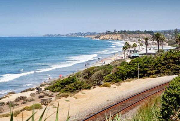 View of Train Tracks in Del Mar