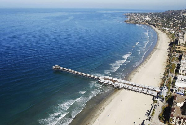 Aerial View of Pacific Beach