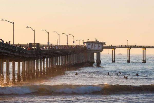 Ocean Beach Pier Surfers