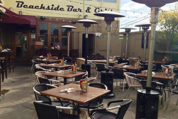 The patio of Beachside restaurant.