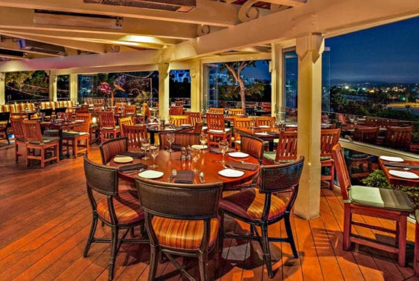 A view from the dining room of Brigantine Del Mar.