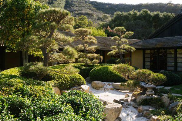 The Golden Door zen garden.