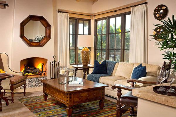 Rancho Valencia  sitting room.